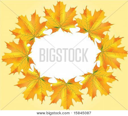 Autumn Leafs Circle