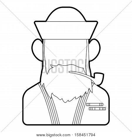 Sailor icon. Outline illustration of sailor vector icon for web design