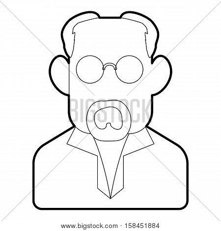 Scientist icon. Outline illustration of scientist vector icon for web design