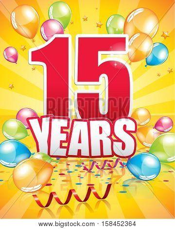 15 Years Birthday Card