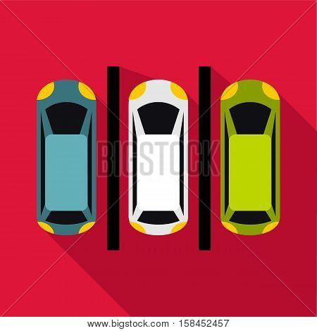 Parking icon. Flat illustration of parking icon for web