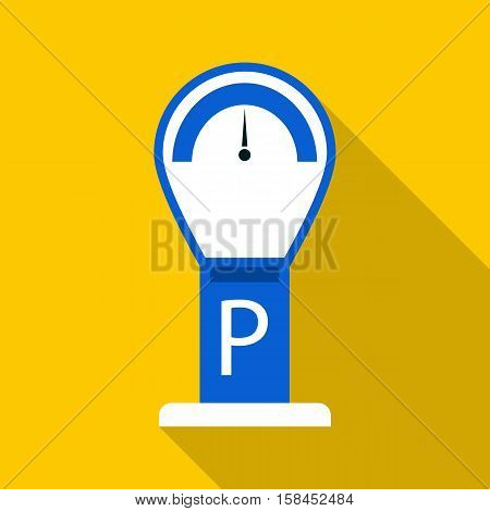 Parking meter icon. Flat illustration of parking meter vector icon for web design