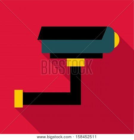 Surveillance camera icon. Flat illustration of surveillance camera vector icon for web