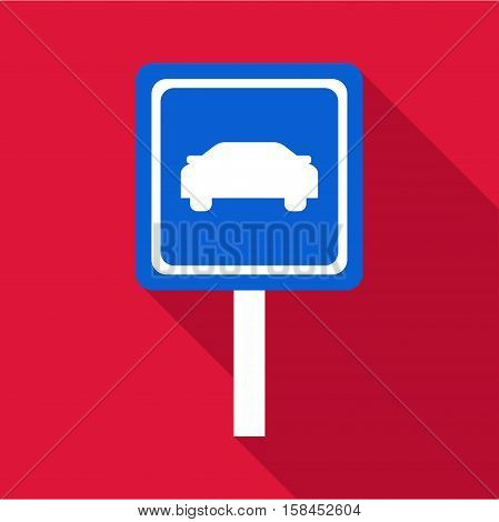 Sign car icon. Flat illustration of sign car icon for web