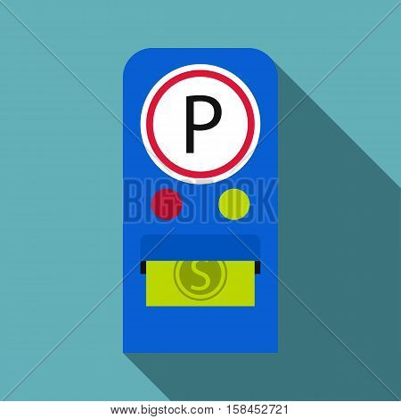 Parking fees icon. Flat illustration of parking fees icon for web