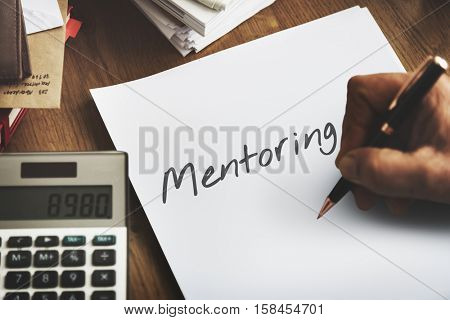 Mentoring Guidance Coaching Training Instruction Concept