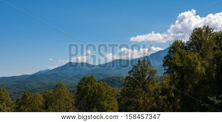 Mountain Peaks in the Great Smokey Mountains