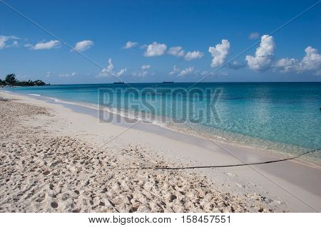 Calm Beach with Clear Water at Grand Cayman Beach
