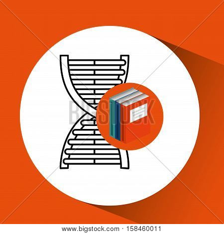 library books school science structure molecule vector illustration eps 10