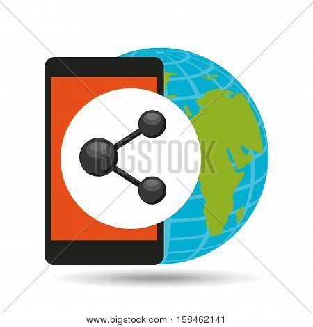 global sharing social network vector illustration eps 10
