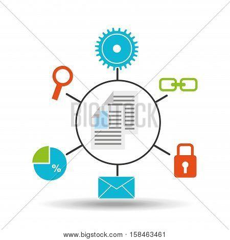 document technology social media concept vector illustration eps 10