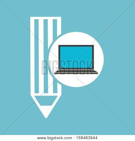social media laptop writing vector illustration eps 10