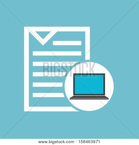 social media laptop document vector illustration eps 10