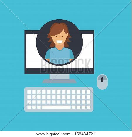 girl hairstyle community social network vector illustration eps 10