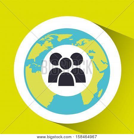 group social media world map vector illustration eps 10