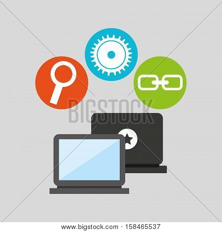 technology social media concept vector illustration eps 10
