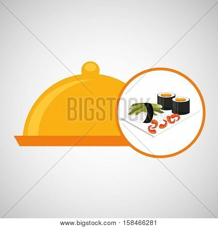 catering fresh sushi design graphic vector illustration eps 10