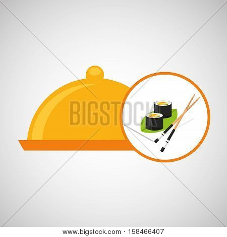 food serving tray sushi design vector illustration eps 10
