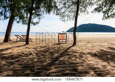 Chair at the beachside Prachuap Khiri Khan Thailand