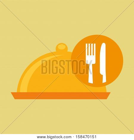 food serving platter icon design vector illustration eps 10