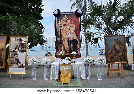 Memorial To The Deceased King Bhumibol Adulyadej