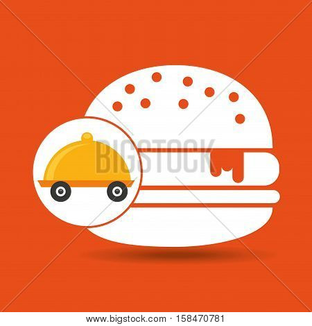 fast delivery food burger vector illustration eps 10