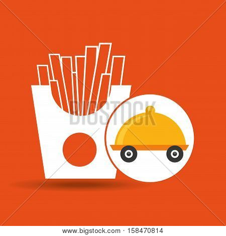 fast delivery food french fries vector illustration eps 10