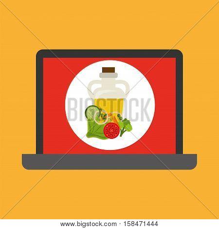 shopping online concept order fresh food food vector illustration eps 10