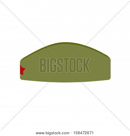 Retro Military Forage-cap Russian Soldiers. Vintage Army Cap With Star