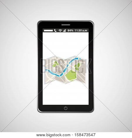 map mobile phone navigation vector illustration eps 10