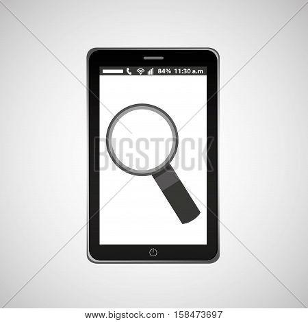 search mobile phone navigation vector illustration eps 10