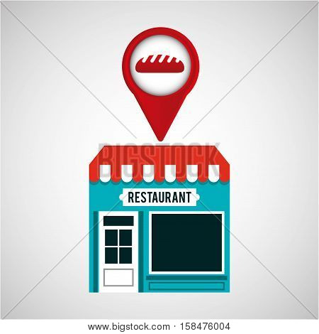 smartphone bakery store app location vector illustration eps 10