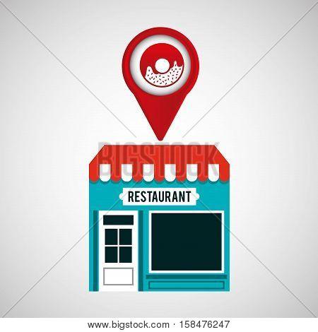 smartphone store donut app location vector illustration eps 10
