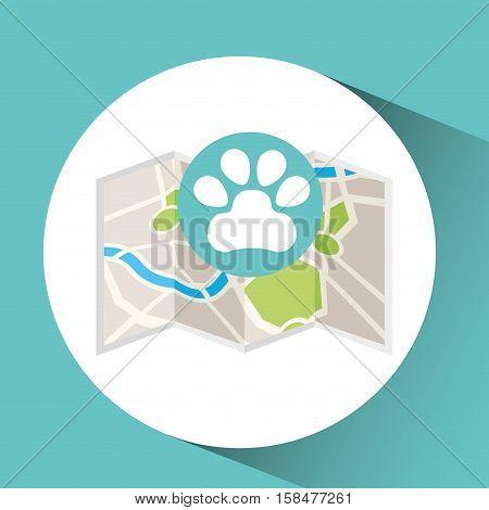 veterinary map pin pointer design vector illustration eps 10