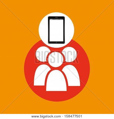 group mobile phone navigation vector illustration eps 10