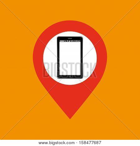 pointer map mobile phone navigation vector illustration eps 10