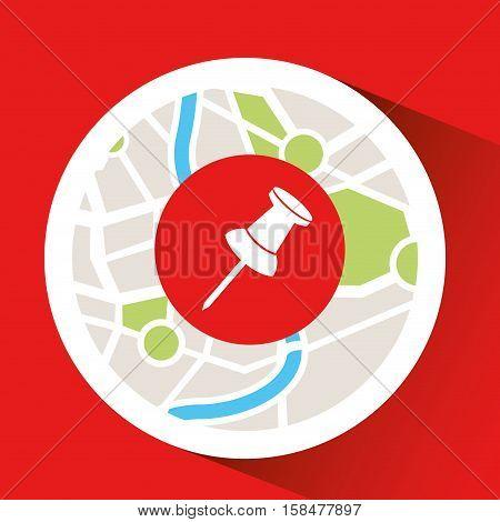 pointer laptop map gps vector illustration eps 10