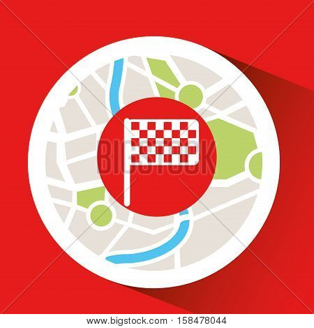 laptop flag map gps vector illustration eps 10