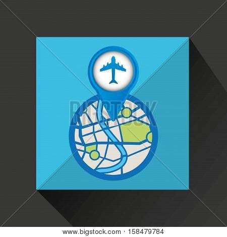 mobile device airport gps map vector illustration eps 10