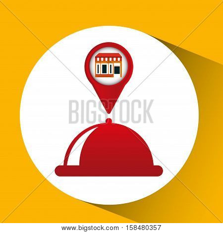 mobile phone food service shop locater vector illustration eps 10