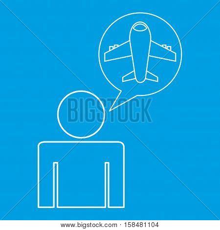 airport locate destination icon silhouette man vector illustration eps 10