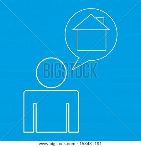 home locate destination icon silhouette man vector illustration eps 10