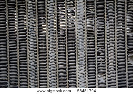 close up old iron radiator grille texture