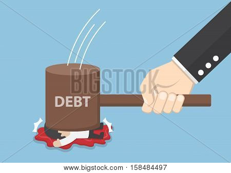 Businessman Smashed By Hammer Of Debt