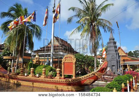 Buddhist Temple Wat Preah Prom Rath In Siem Reap, Cambodia