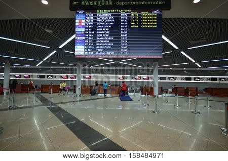 Inside View Of The Airport In Phnom Penh