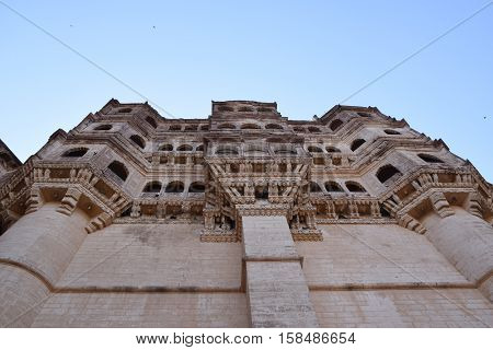 View of Mehrangarh fort in Jodhpur, Rajasthan, India