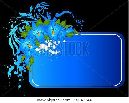 Background with beautiful blue orchids