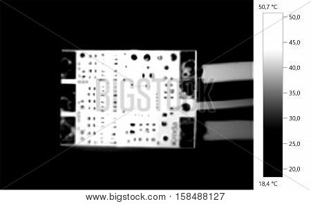 Thermal image photo circuit electronic gray scale