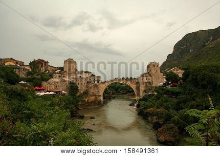 Old Mostar Bridge / Stari Most ( Old Bridge) is a 16th century Ottoman bridge in the city of Mostar, Bosnia and Herzegovina.